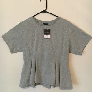 Topshop Corset Seam T-Shirt Size 8 (6-8)